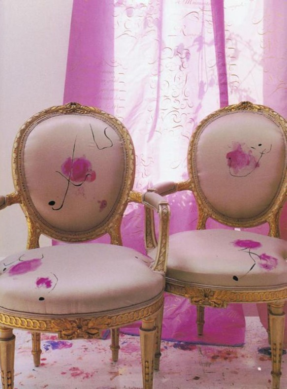 PINK Chairs by Carolyn Quartermaine